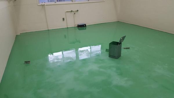 N社内部床防塵コーティング
