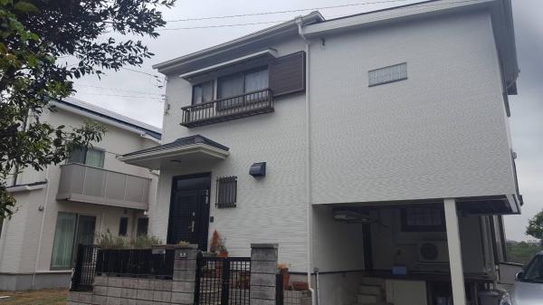 藤沢市のK様邸で外壁塗装