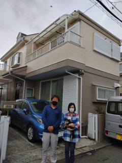 茅ヶ崎のK様邸で屋根外壁塗装工事